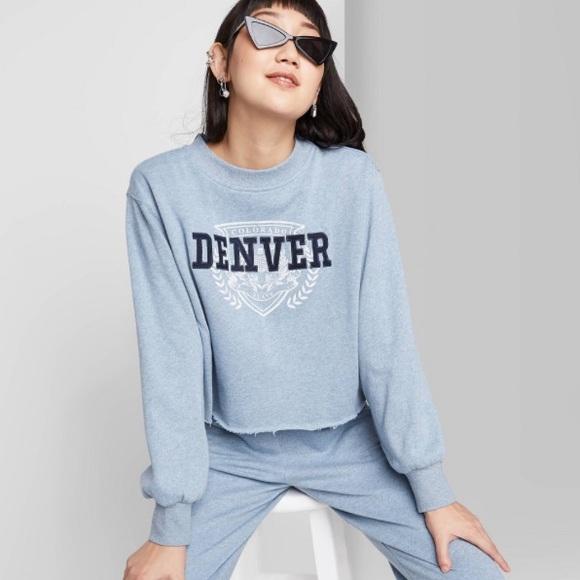 Women's Crewneck Cropped Sweatshirt Denver, CO